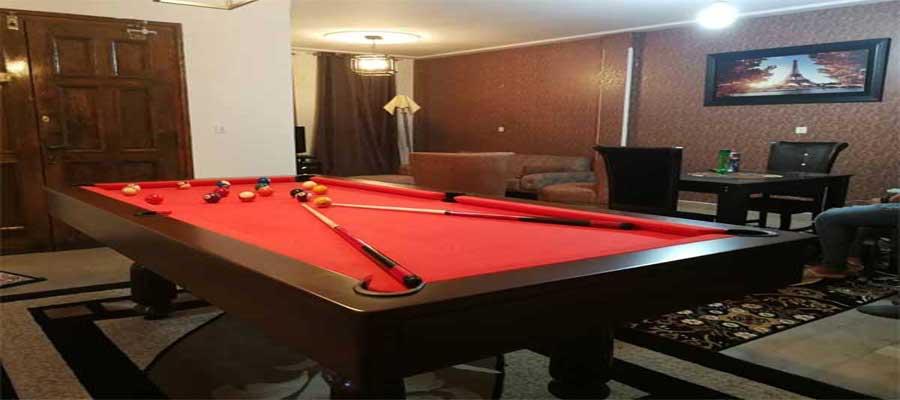 اجاره روزانه آپارتمان مبله 130 متری ارزان در مطهری دارای بیلیارد طبقه چهارم