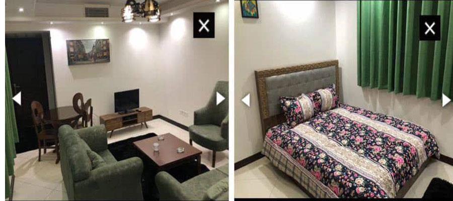 اجاره آپارتمان روزانه مبله جردن تهران قیمت ارزان 120 متر