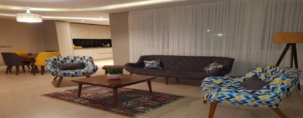 اجاره روزانه آپارتمان مبله نوساز 110 متری در خیابان نیاوران تهران با قیت ارازن