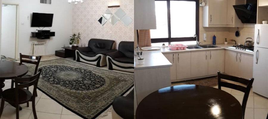 اجاره روزانه آپارتمان مبله تهران ۶۰متري با قیمت ارزان در کارگر جنوبی