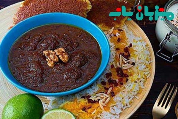 غذای محبوب فسنجون - محبوب ترین غذاهای سنتی ایران